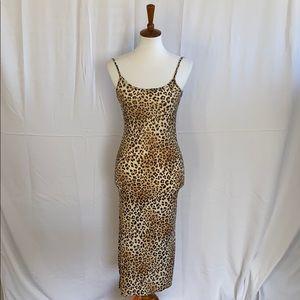 High Slit Leopard Dress
